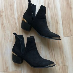 ASOS Cut out booties - black